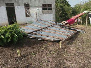 Musibah Puting Beliung Melanda Kantor Daerah Melawi Hulu Kalimantan Barat