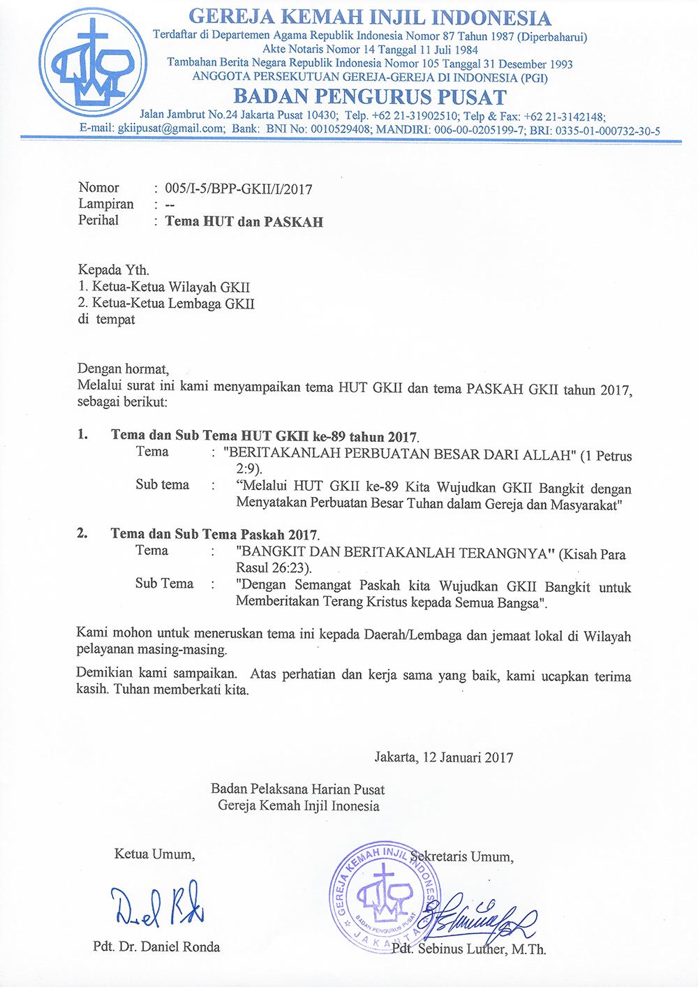 Tema Hut Dan Paskah Gkii 2017 Gereja Kemah Injil Indonesia