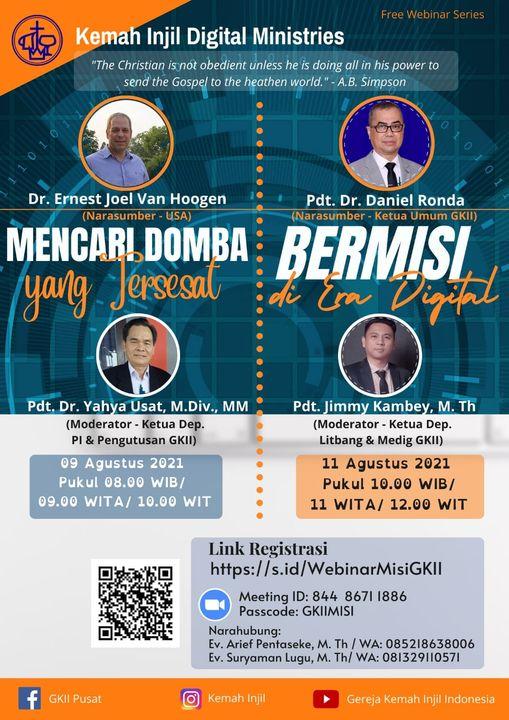 Webinar Gratis Kemah Injil Digital Ministries